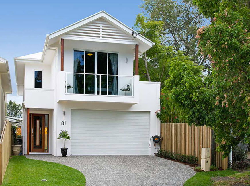 дизайн частного дома в белом цвете фото цена месяц