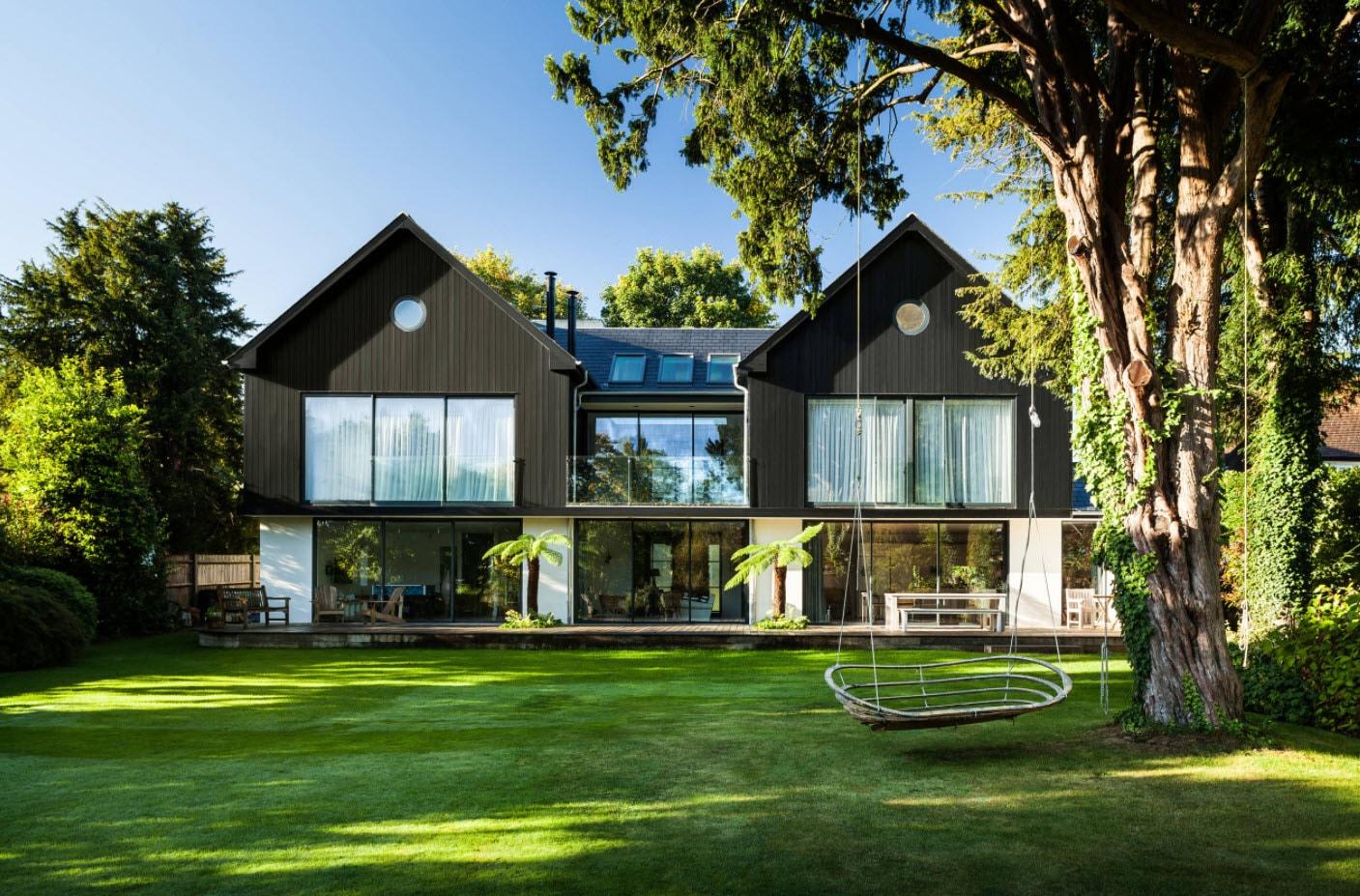 двухскатные мансардные крыши