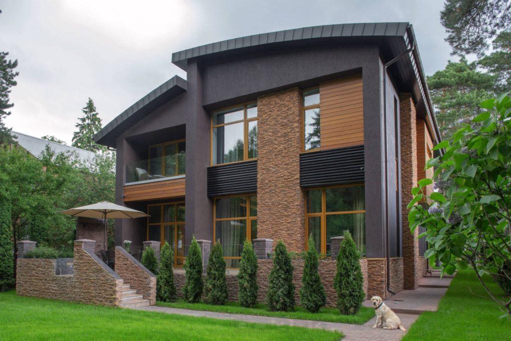 Красивые и необычные фасады частного дома фото