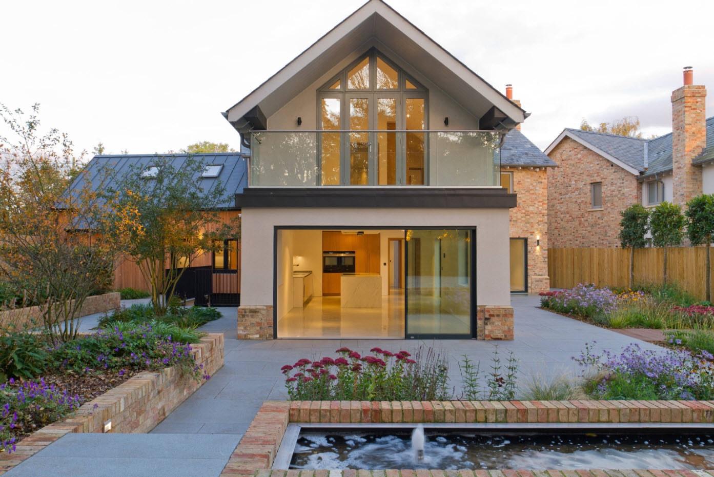 мансардная крыша для небольшого дома