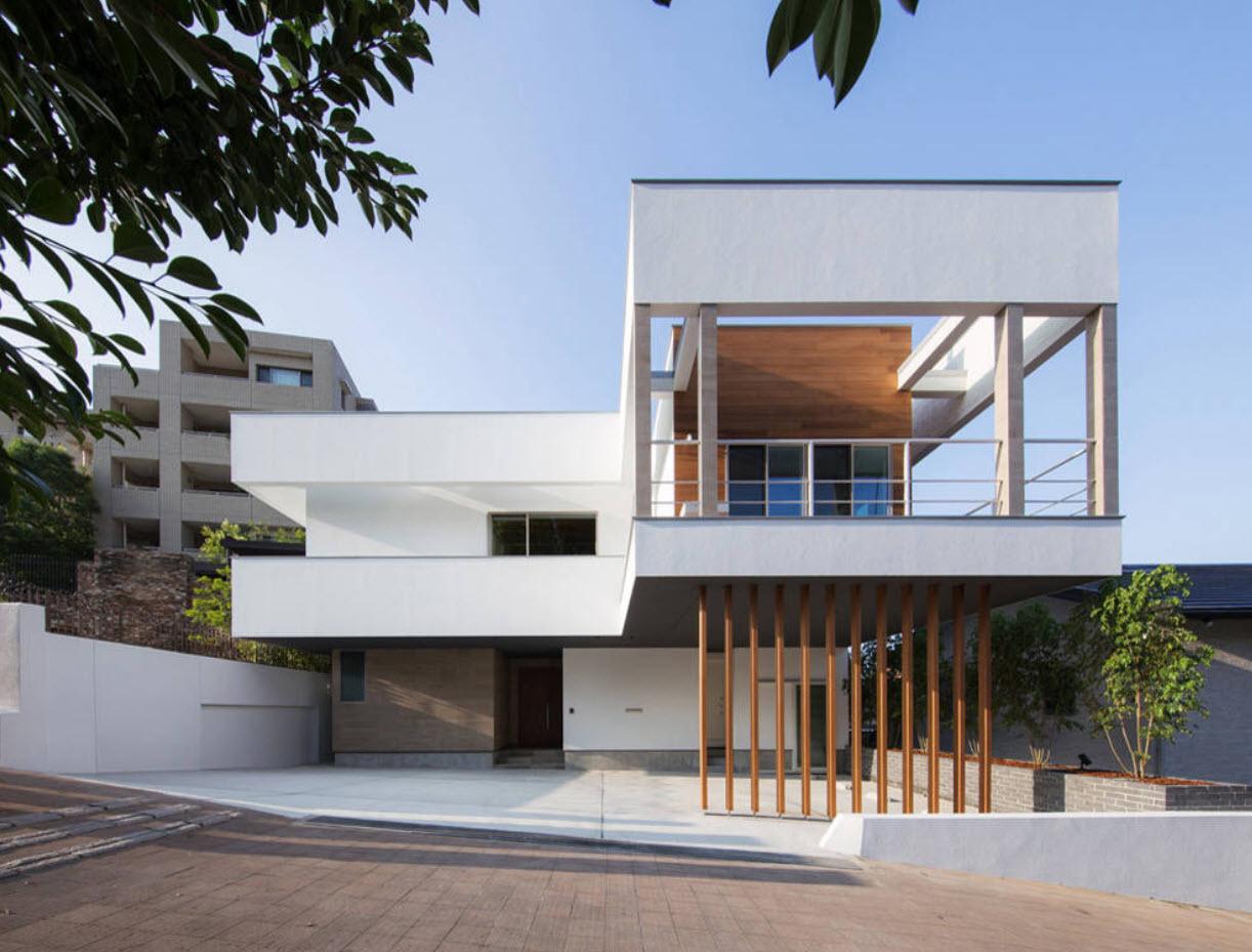 плоская крыша на доме с террасой
