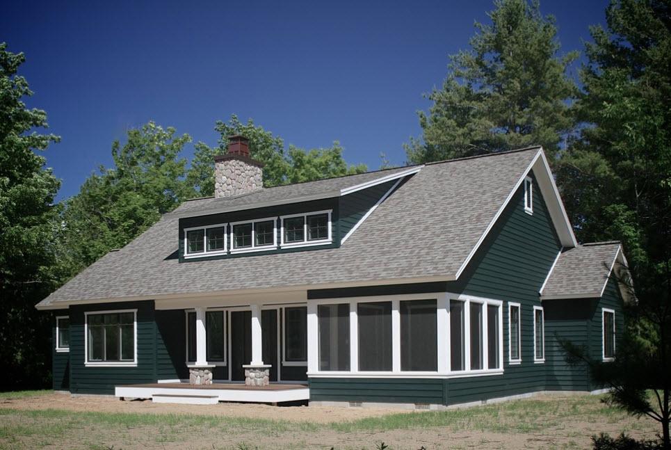 дом с оригинальной отделкой