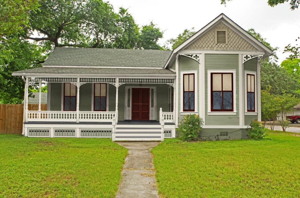 красивое оформление фасада дома