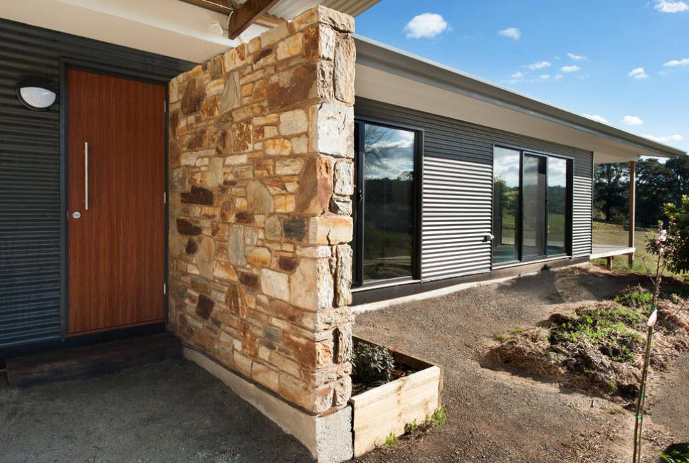 отделка фасада современного дома