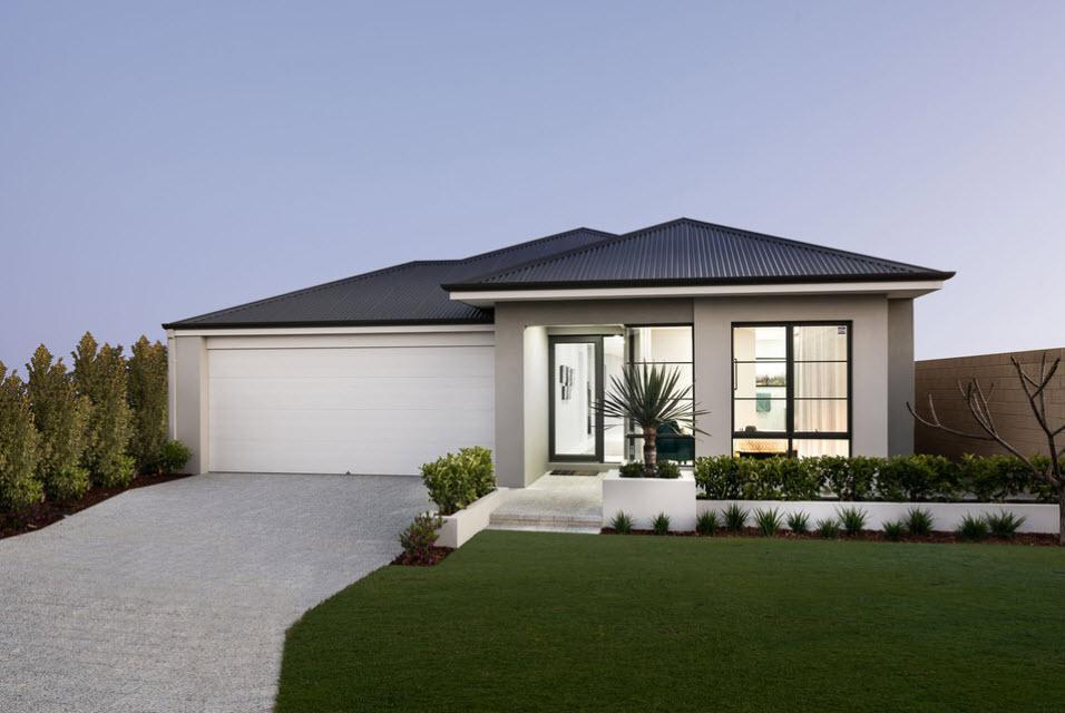 современный дом с гаражом