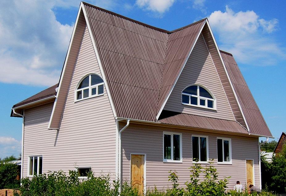 Проекты домов и коттеджей фото сломанной крышей вынуть