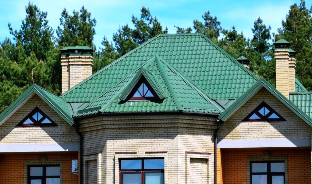 Крыша дома картинка зеленый