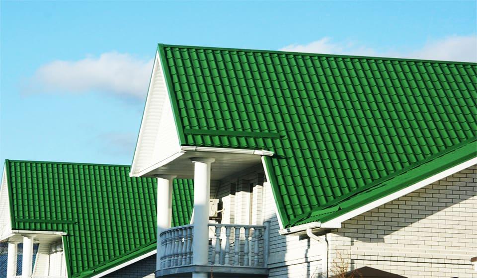Фото крыши домов из металлочерепицы монтеррей