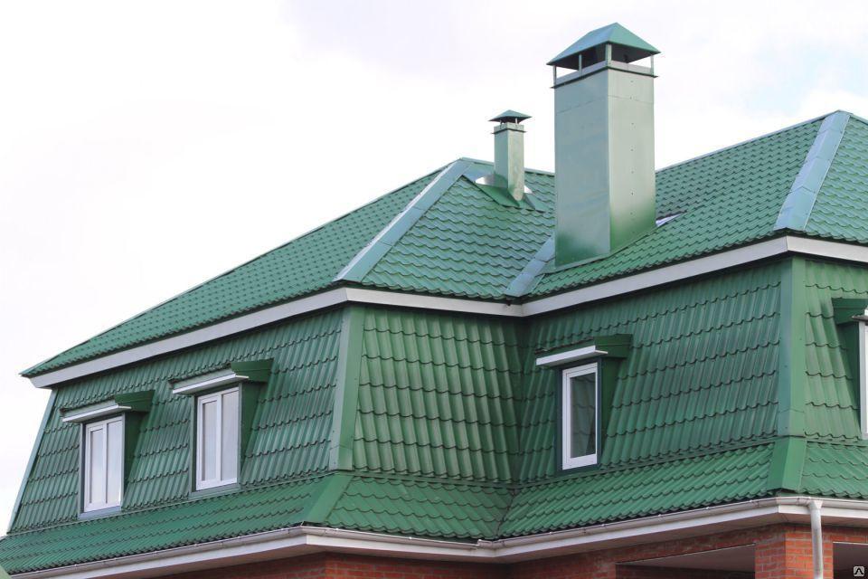 металлочерепица зеленый мох фото домов божий при