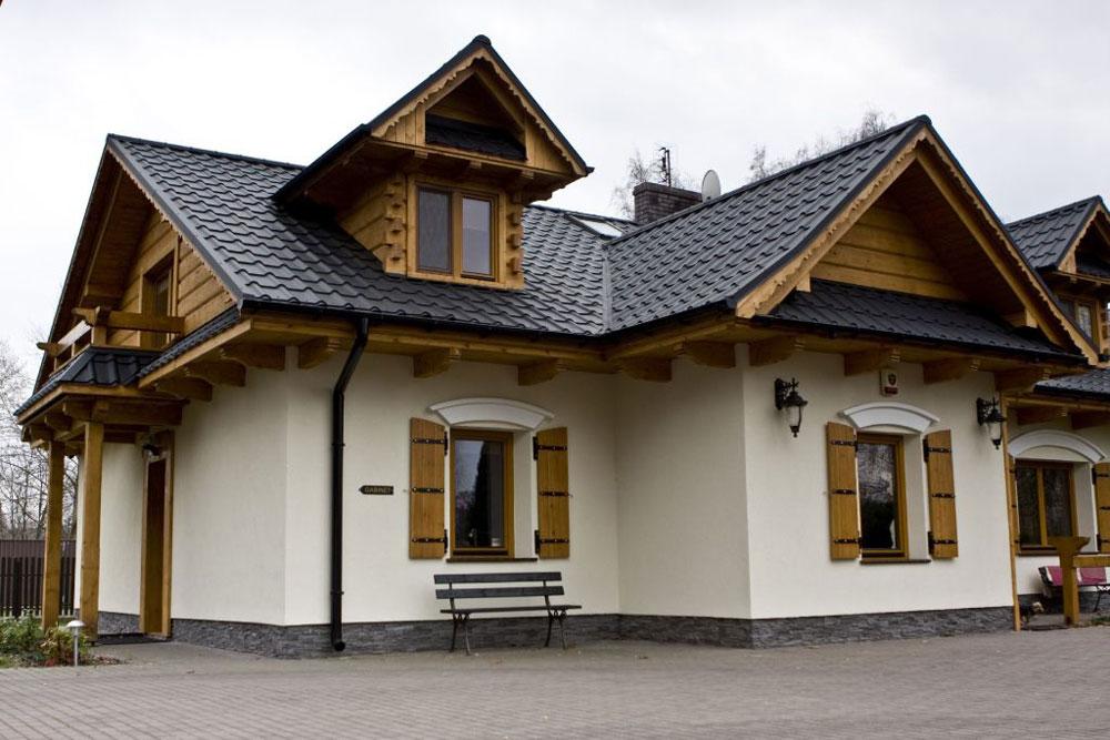 сочетание цветов крыши и фасада дома фото можем