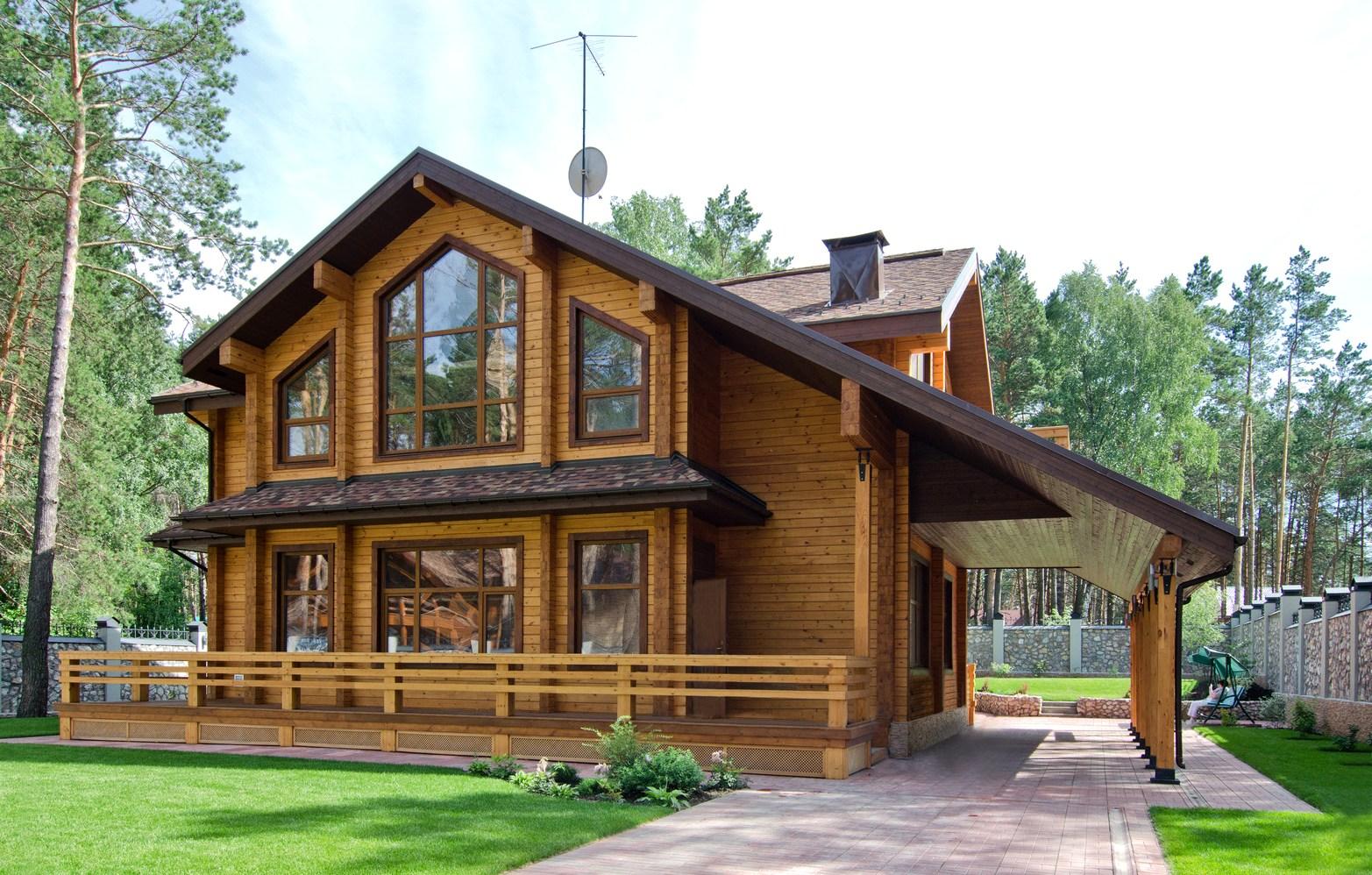 красивые деревянные дома и коттеджи проекты фото въезде демилитаризованную