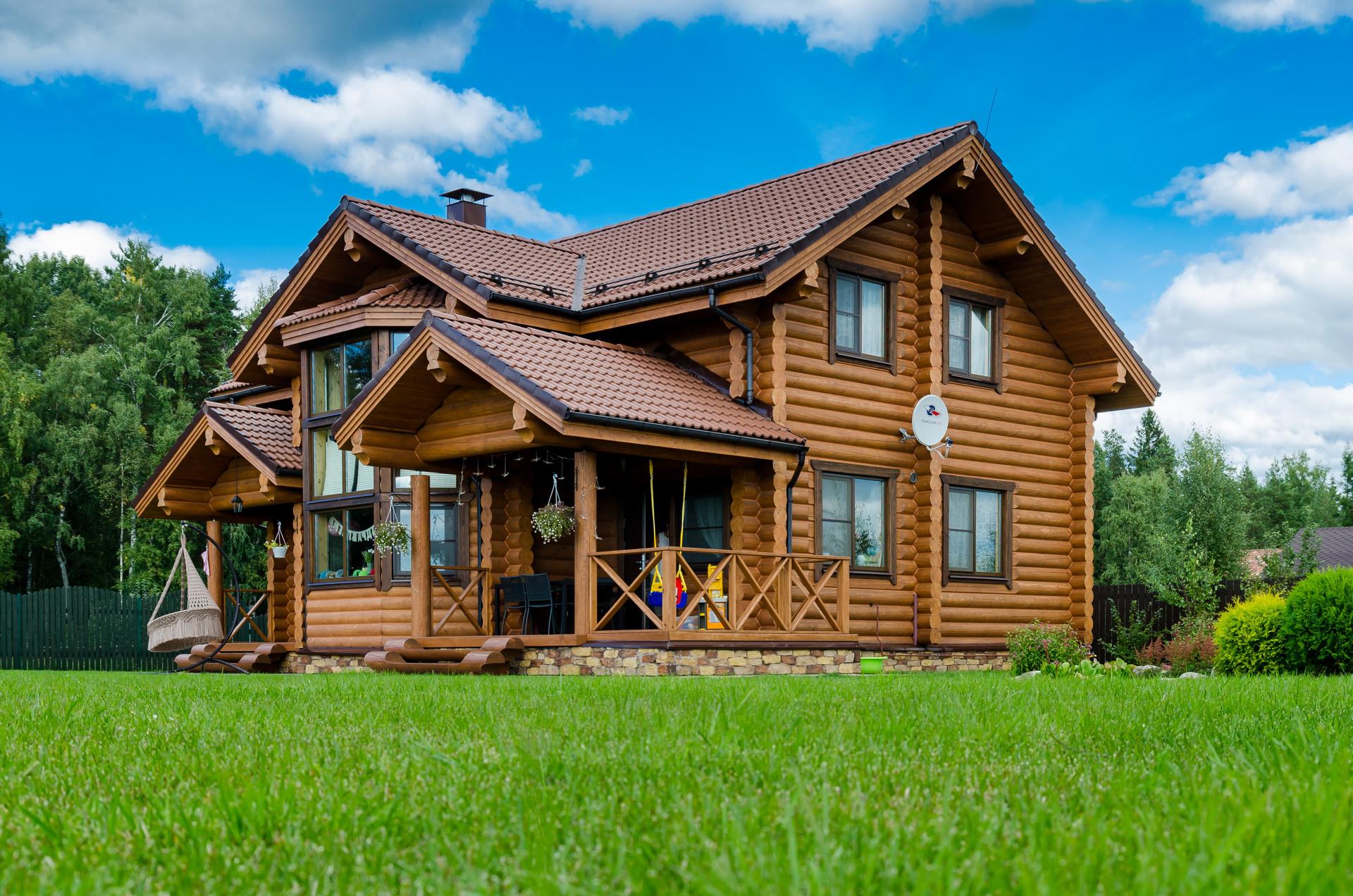 зимнее время деревянные эксклюзивные дома из бруса фото сама