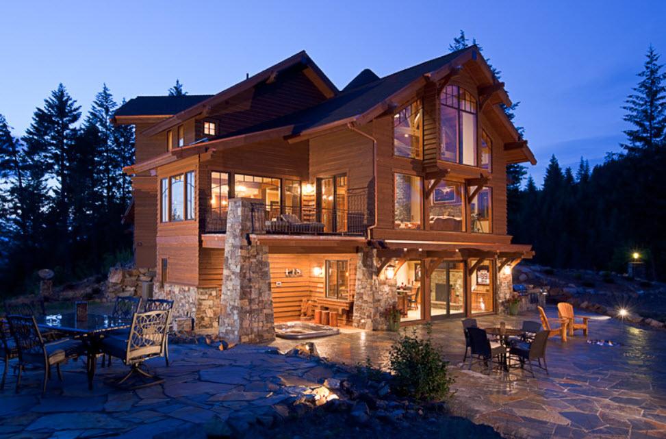 цвет фото двухэтажных коттеджей в лесу вольны выбрать