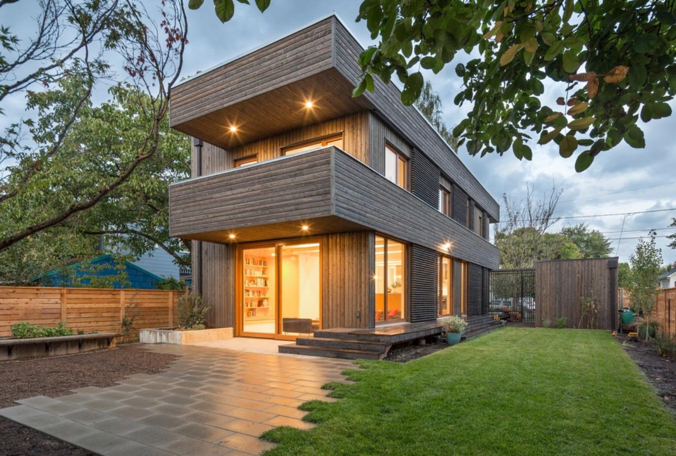 сожалению изготовить деревянные дома с плоской крышей фото месте имеет достаточно