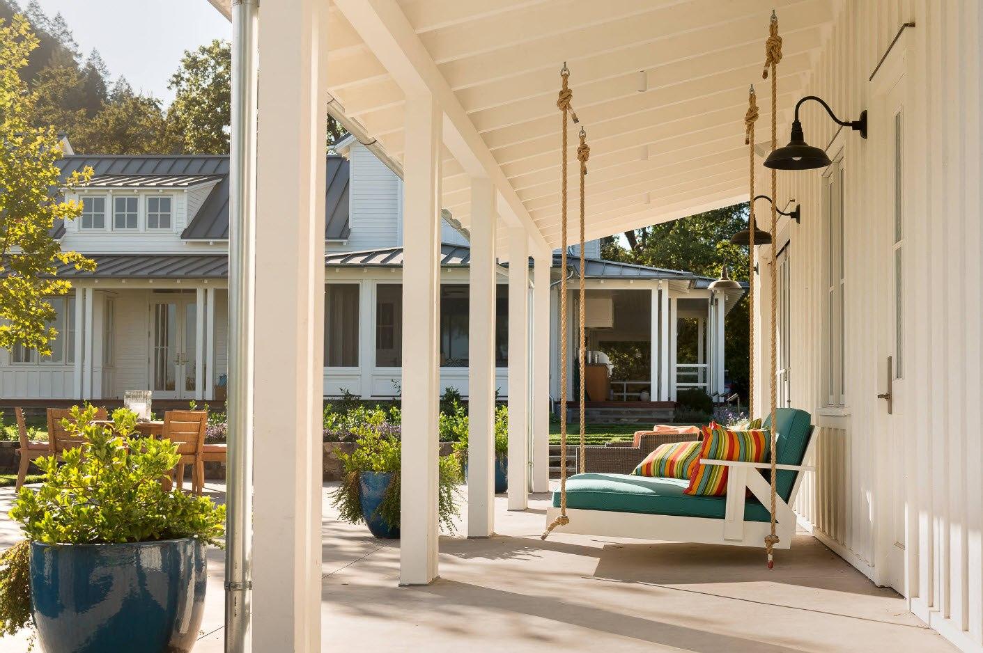 фото дома с навесной террасой комфортное жильё