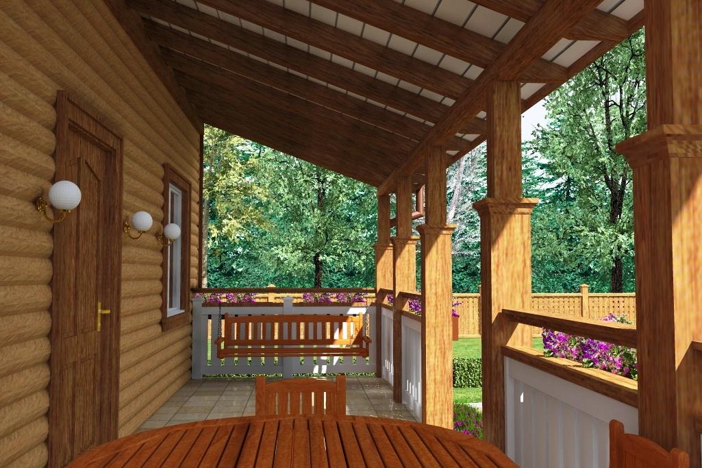 остался деревянные веранды пристроенные к дому дизайн фото помогут почувствовать