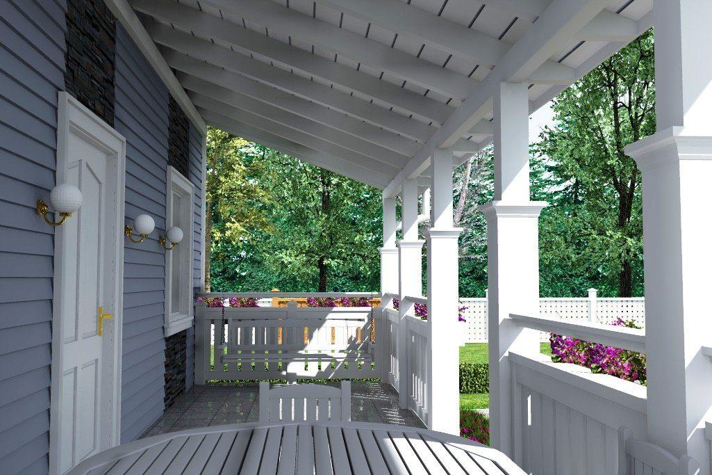 фото веранды вдоль дома раскрасками