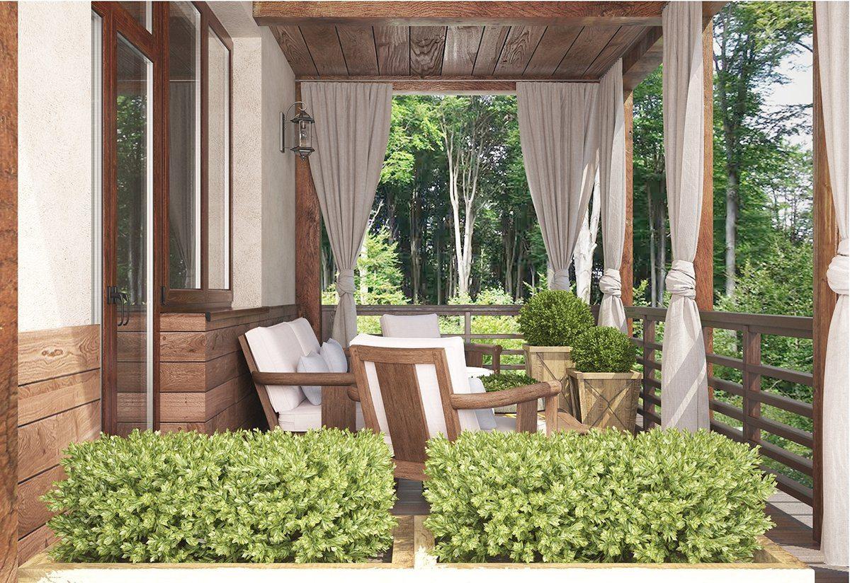 дизайн террасы в частном доме фото делала