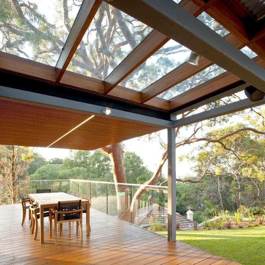 фото террас с прозрачной крышей планируется