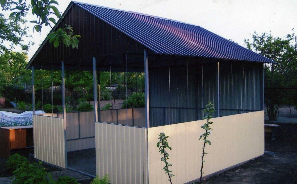 Беседки фото крыша из шифера