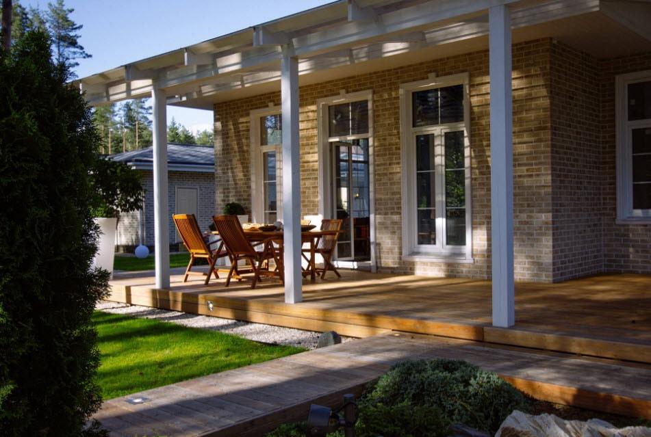 Современные террасы пристроенные к дому фото