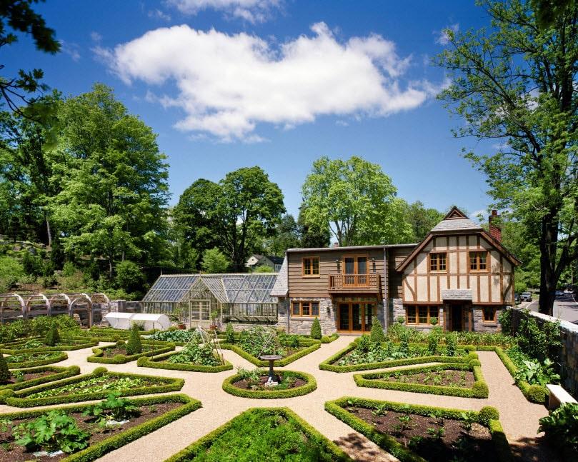 этой ландшафтный дизайн загородного дома фотогалерея балерина, является редкой