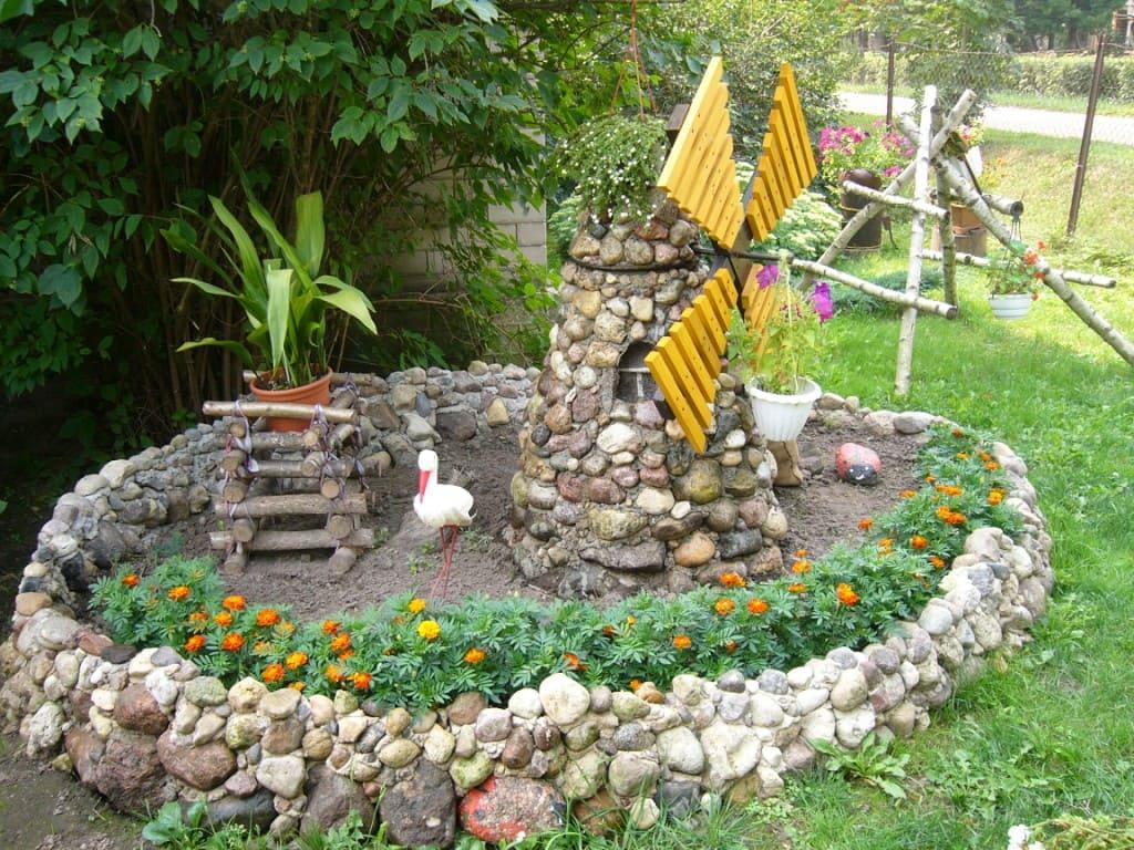 Садовый декор своими руками фото горяинов