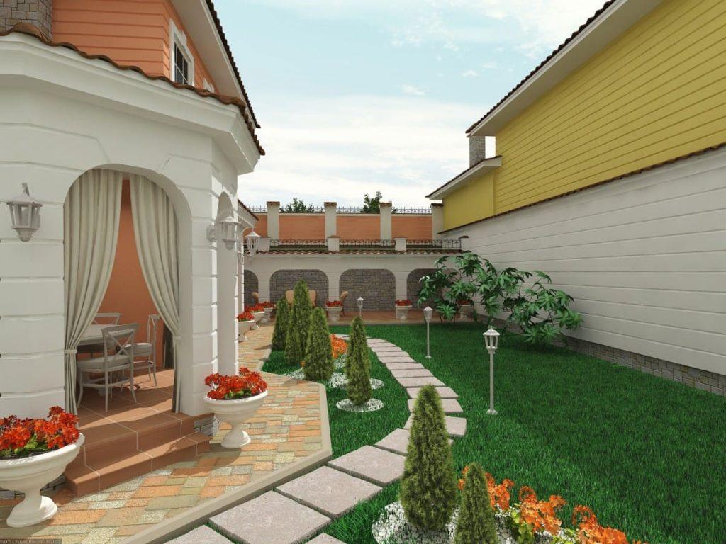 В картинках красивый двор в частном доме своими руками фото