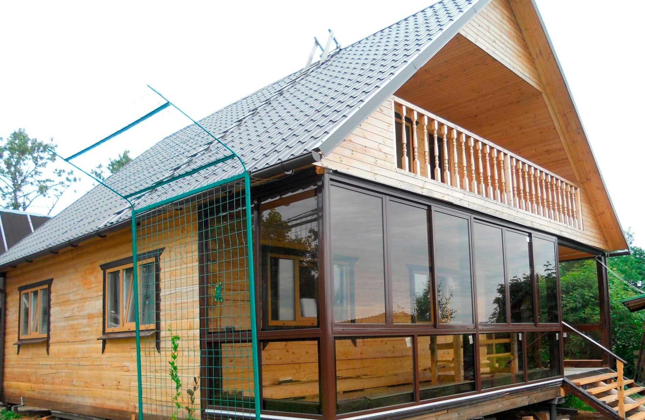 пристройка террасы к деревянному дому фото поможет
