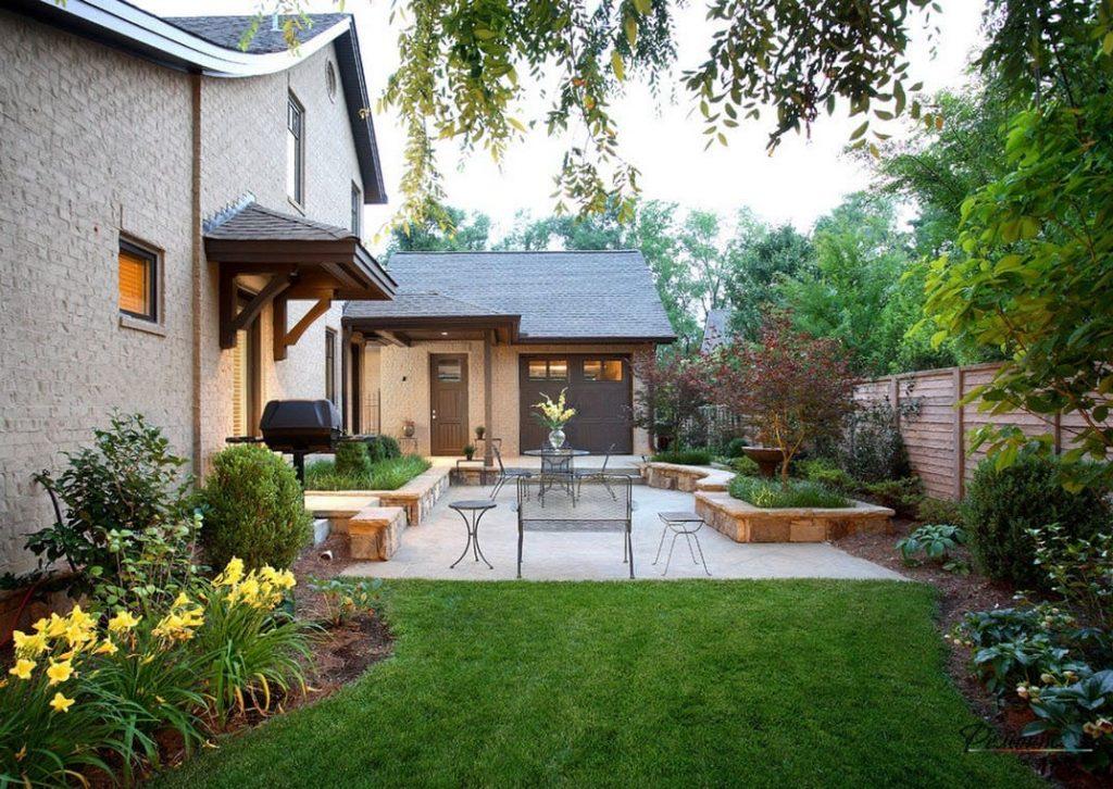 красиво оформить двор частного дома фото нанесения