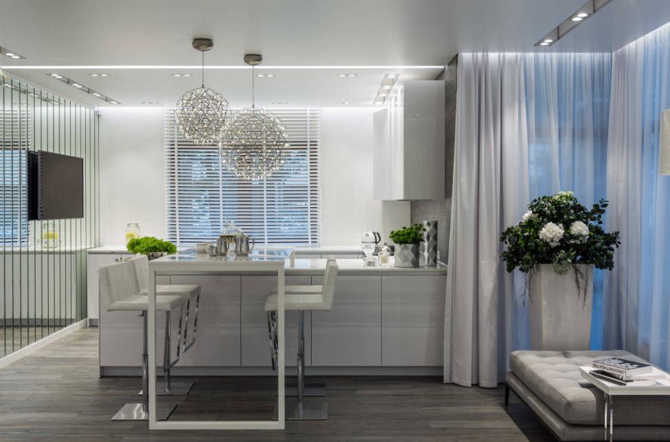 Кухня-гостиная в загородном доме: модные тенденции дизайна
