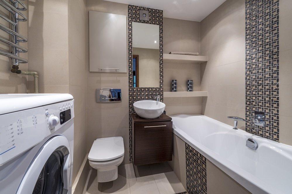 Маленькая ванная комната с плиткой: выбор цвета и размера, фото готовых решений