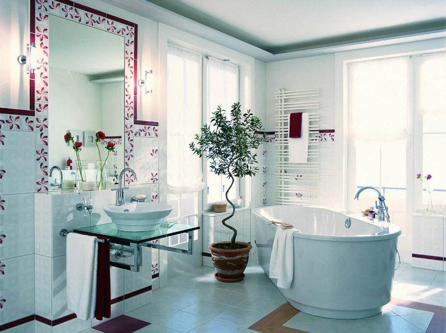 Цвет плитки в ванной комнате: выбор оптимального решения