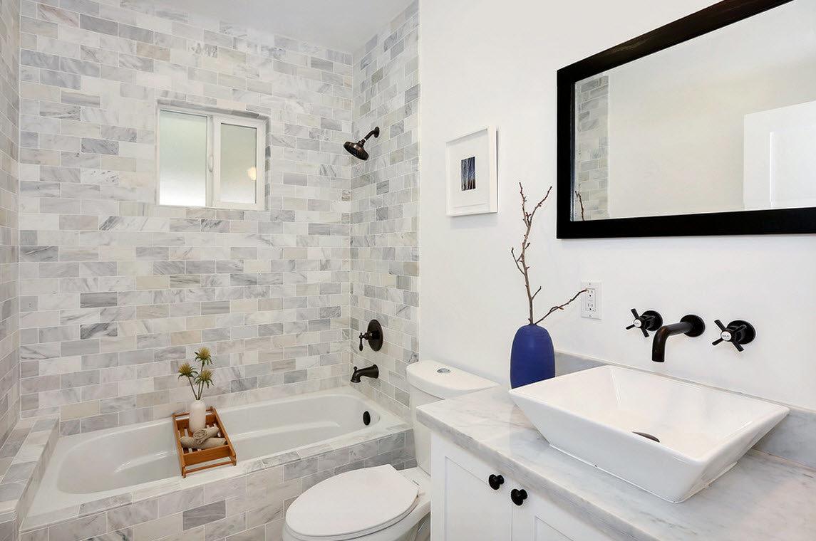 Цвет ванной комнаты маленького размера