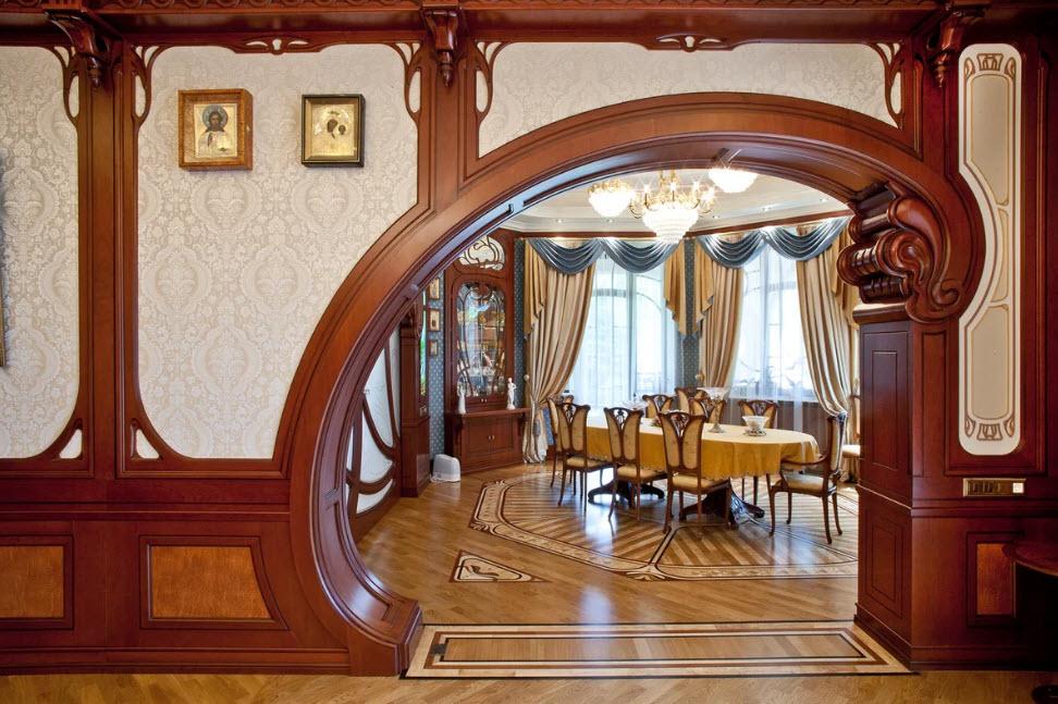 Межкомнатные арки: идеи отделки интерьера и 100 фото готовых решений