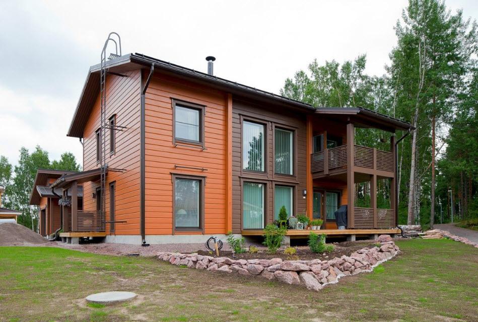Каркасный дом на сваях