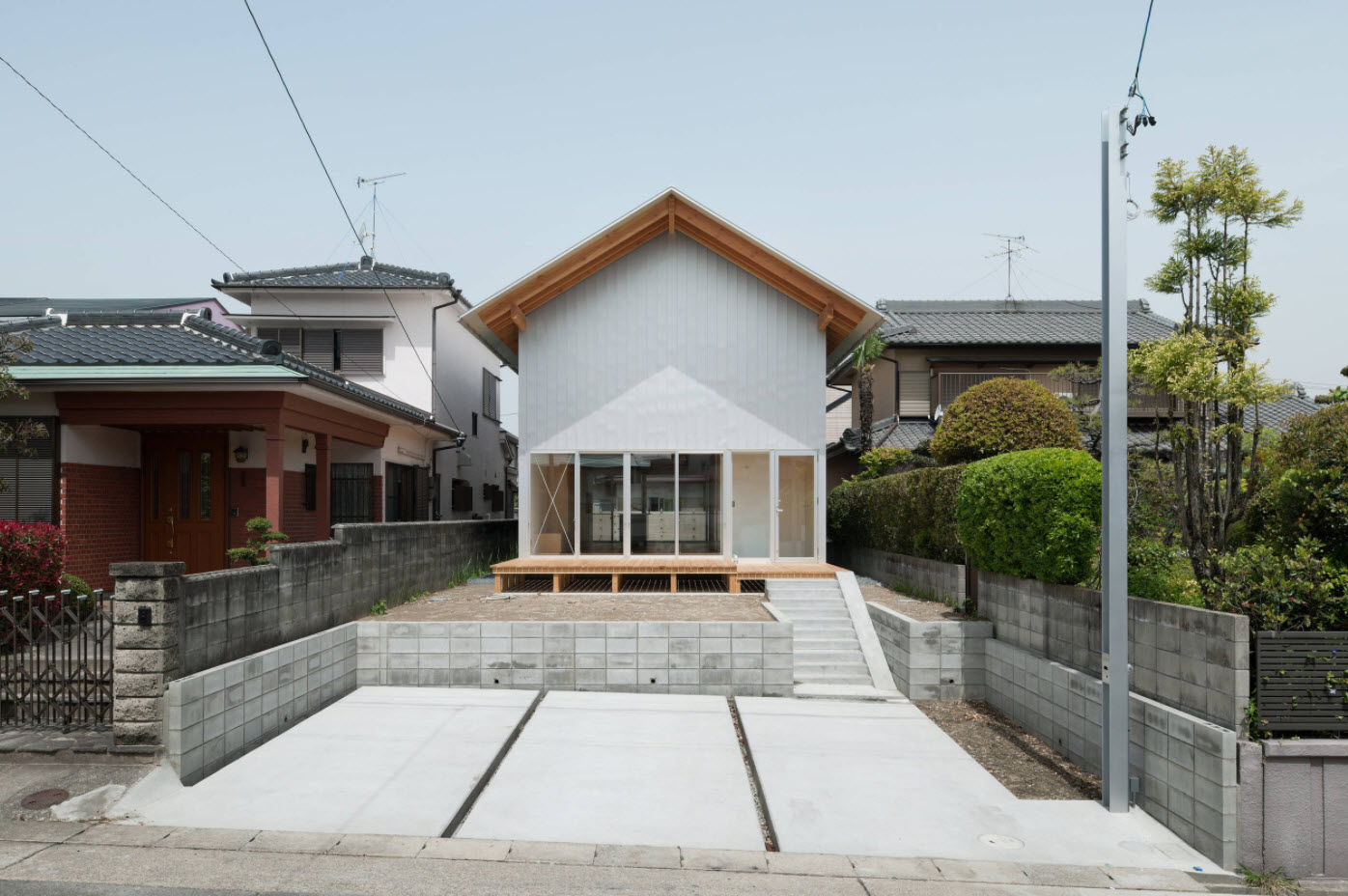двухскатный тип крыши