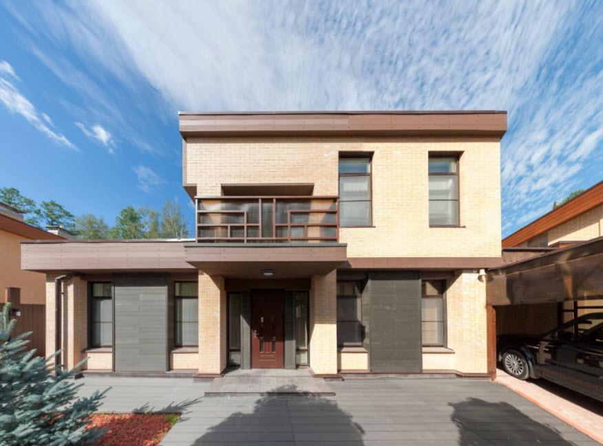 двухэтажный дом в современном стиле
