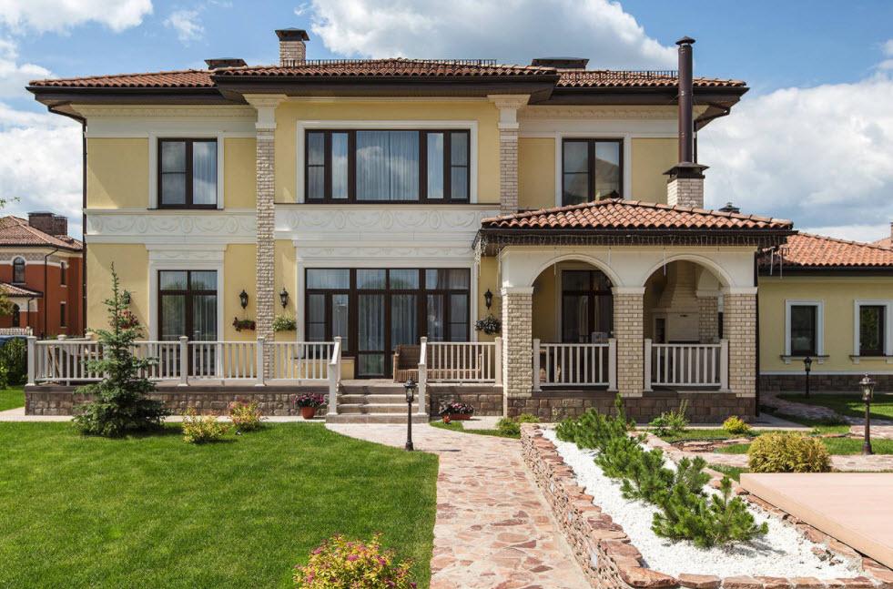 классический дизайн большого дома