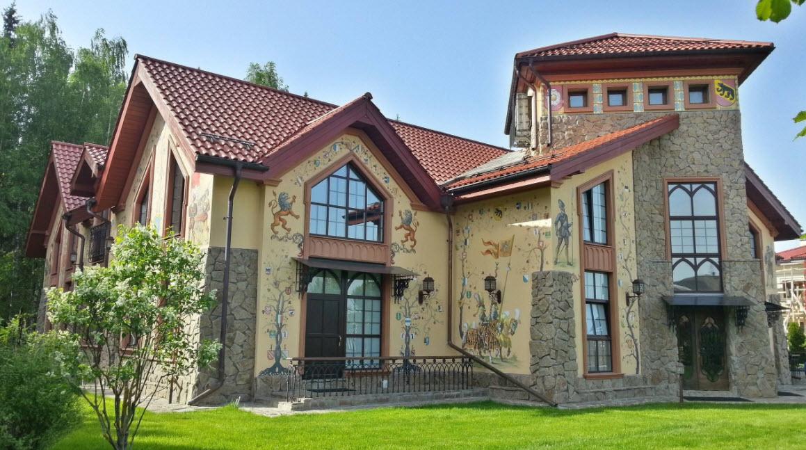 креативное оформление фасада дома
