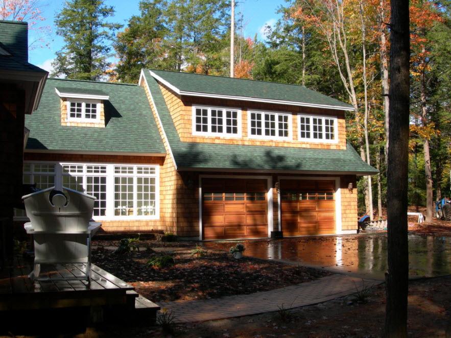 лесной домик с гаражом на 2 авто