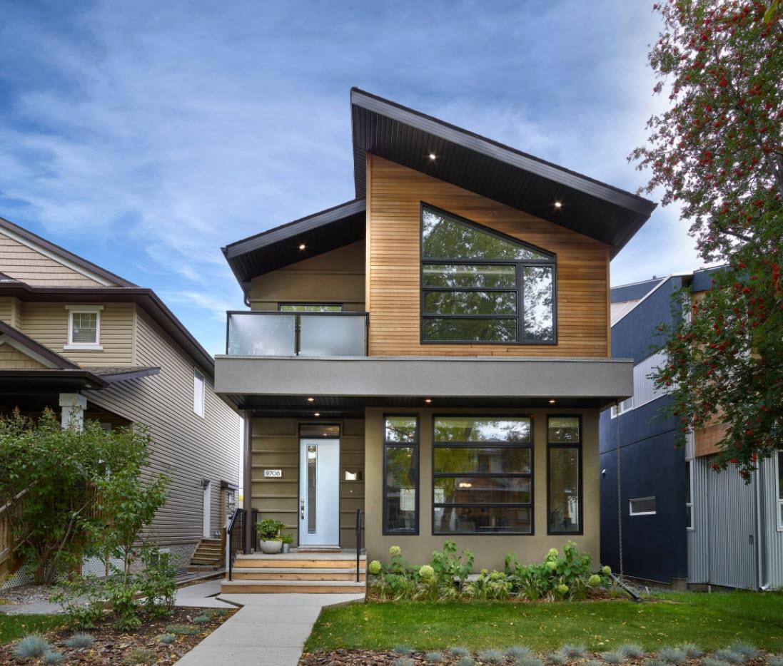 проекты домов и коттеджей с односкатной крышей