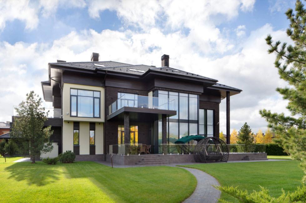 современный дом в два этажа