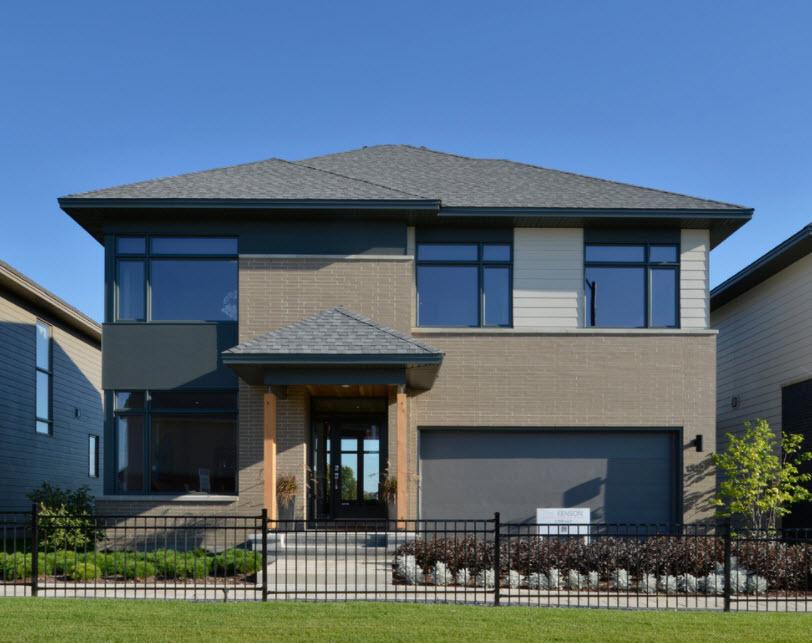 стильный дом с гаражом в современном стиле