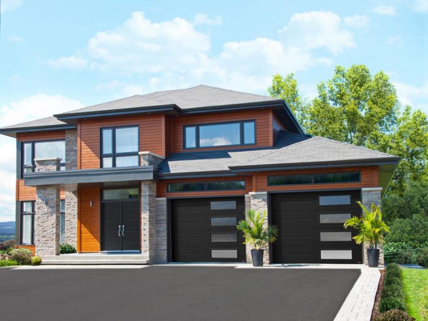 стильный дом с двумя гаражами