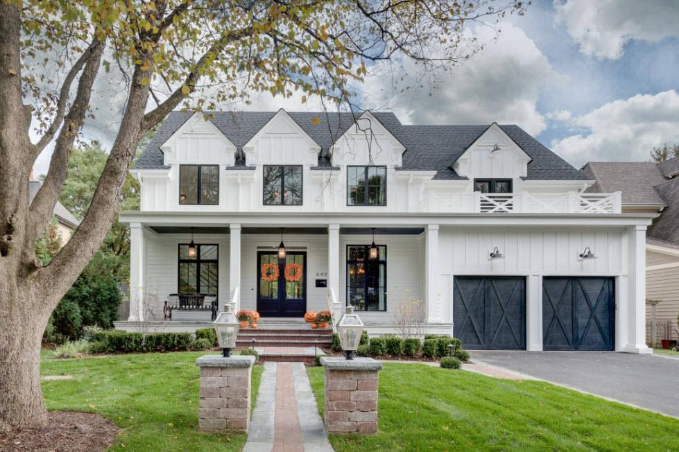 фасад дома в классическом оформлении