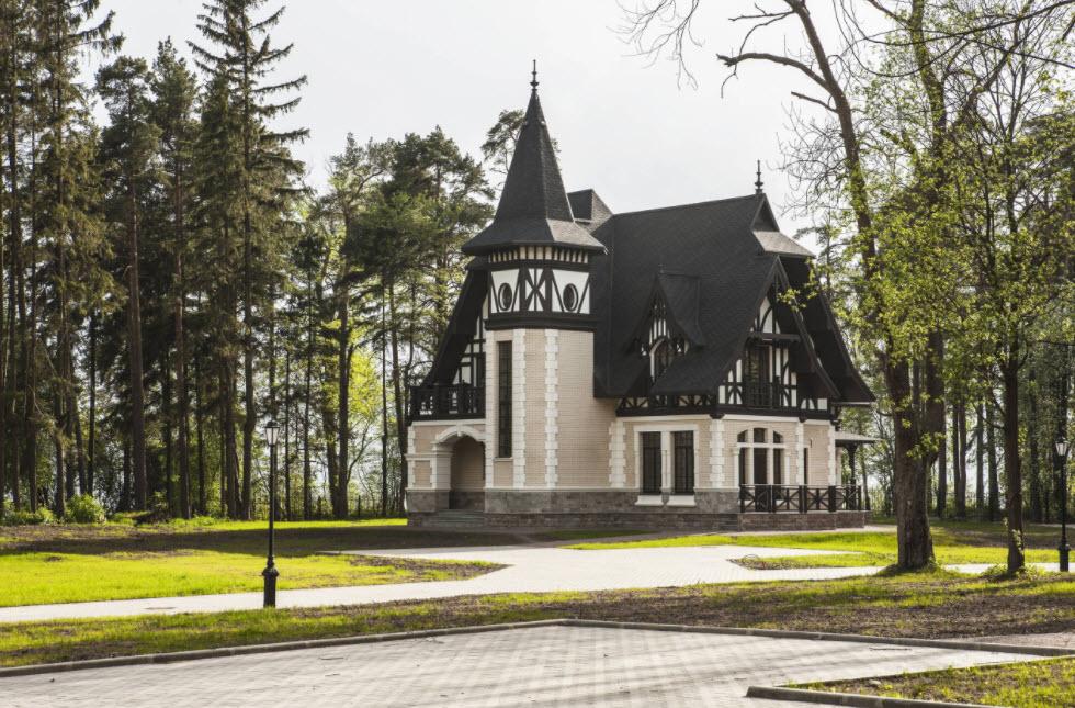 черно-белая классика для фасада дома