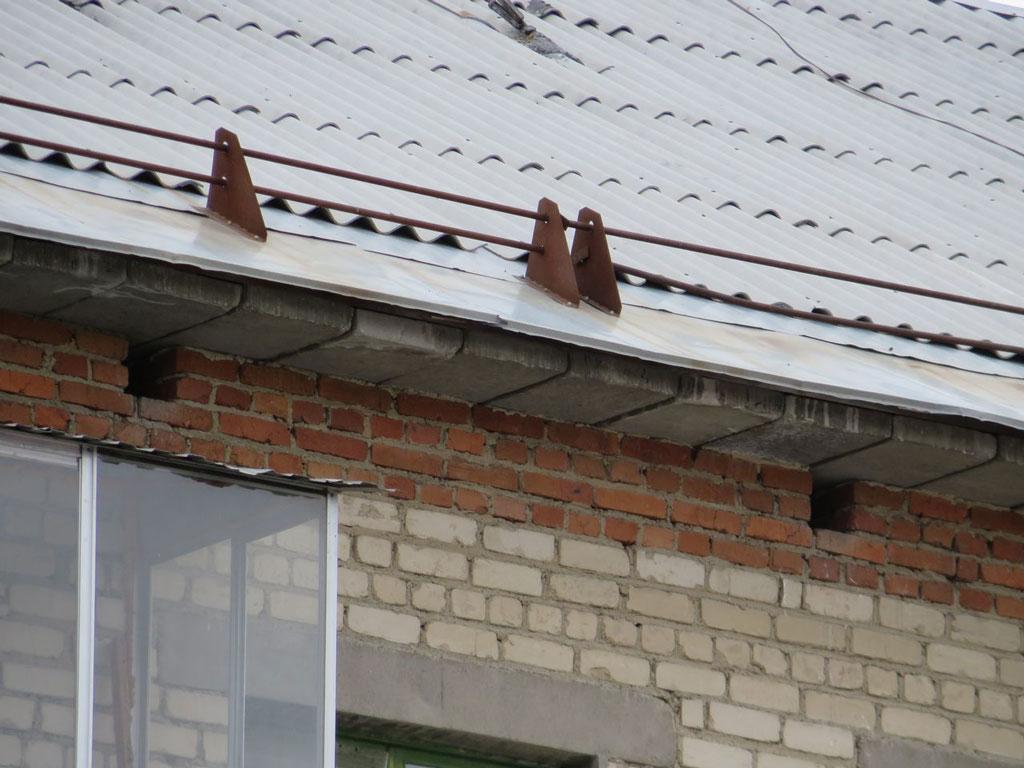 Снегозадержатели на крышу из шифера своими руками фото