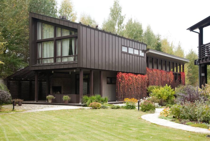 использование профнастила в строительстве дома