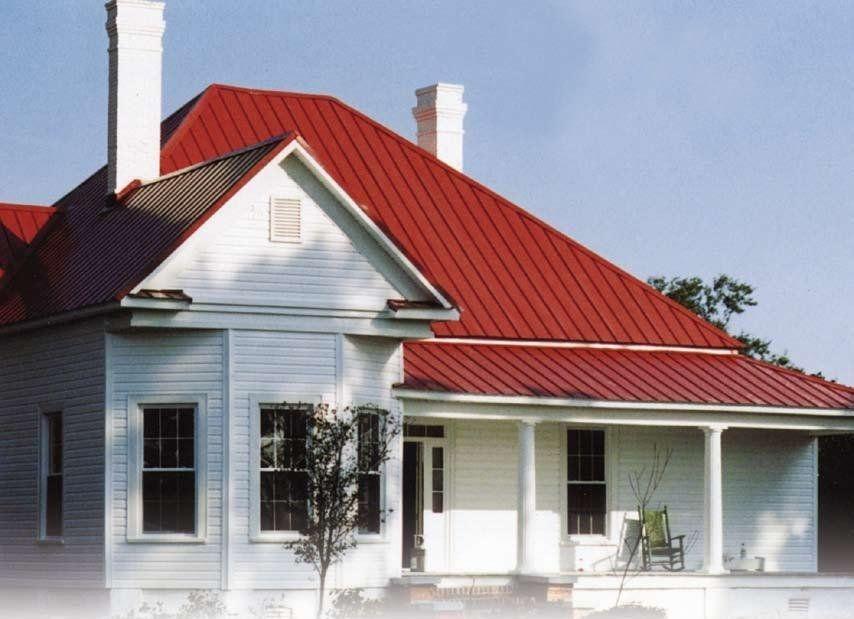 необычная крыша из красного профнастила